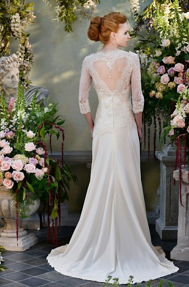 21 Ridiculously Stunning Long Sleeved Wedding Dresses on ConfettiDaydreams.com // Terry Fox Gown via Chic Vintage Brides // Photography: Carey Sheffield