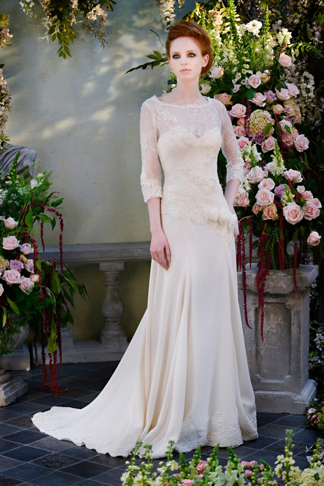 21 Ridiculously Stunning Long Sleeved Wedding Dresses On  ConfettiDaydreams.com // Terry Fox Gown