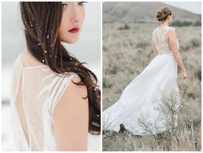 Bridal Fashion Spotlight: Velvet Bride featuring Sarah Seven {Rebecca Hollis Photography}