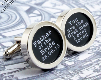 Adorable Father of the Bride Wedding Cufflinks (2)