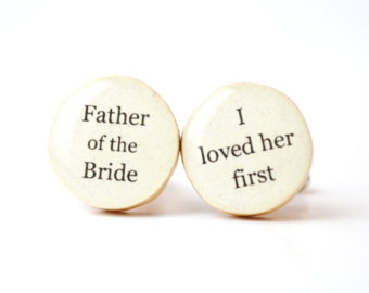 Adorable Father of the Bride Wedding Cufflinks (3)