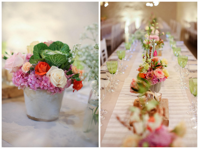Vegetable Floral Centerpiece // Reception Decor // Colourful Nooitgedacht Wedding on a rainy South African day  // Nikki Meyer photography