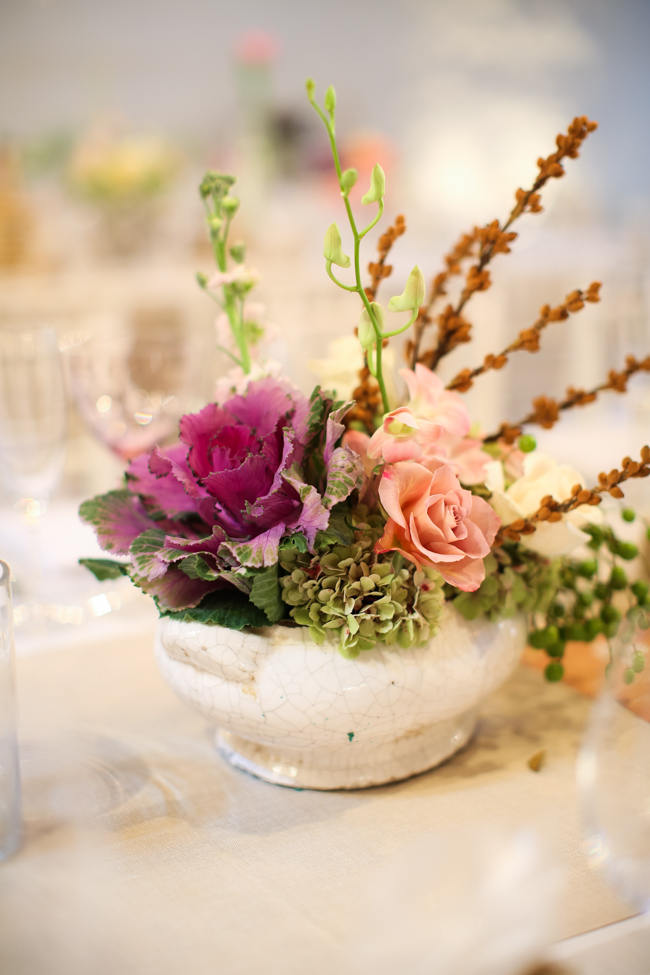 Floral Arrangement  // Reception Decor // Colourful Nooitgedacht Wedding on a rainy South African day  // Nikki Meyer photography
