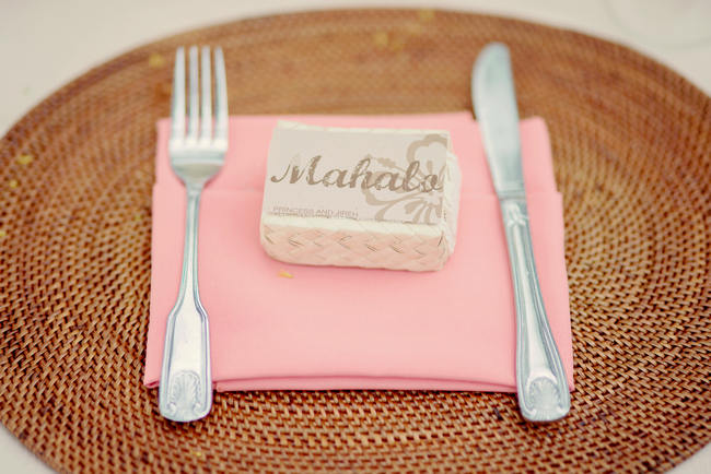 Place Setting // Rustic Coral & Mint Destination Beach Wedding Reception // BellaEva Photography