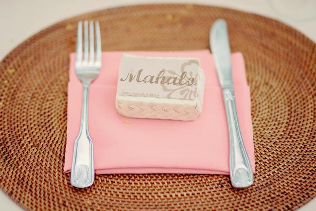 Place Setting // Rustic Coral & Mint Destination Beach Wedding Reception // BellaEva Photography