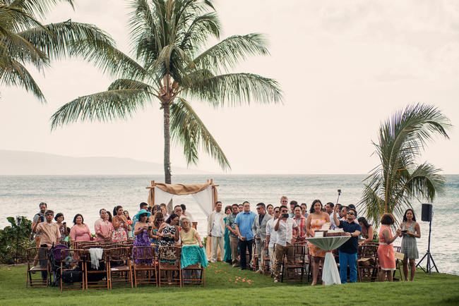 Rustic Coral & Mint Destination Beach Wedding // BellaEva Photography