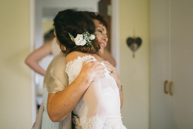 Shoulderless Wedding Dress  //  Earthy Farmstyle Rustic Wedding // Jenni ELizabeth Photography