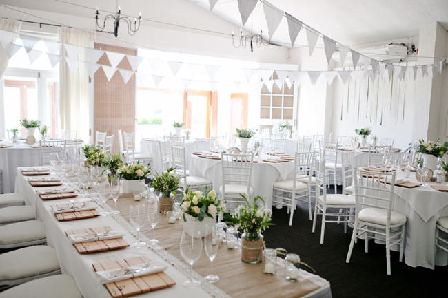 Organic Grey and Green Wedding Reception Decor at Silvermist, Cape Town // Moira West Photography