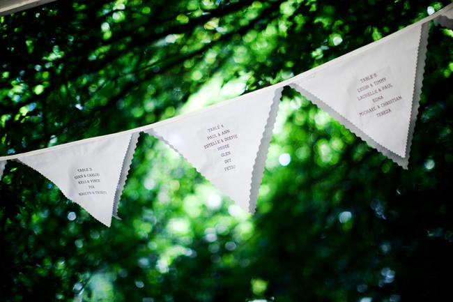 Bunting // Outdoor Mountain Wedding Ceremony at Silvermist, Cape Town // Moira West Photography