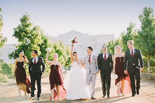 Gorgeous Grey and Burgundy Wedding at Nantes Estate {Charlene Schreuder Photography}