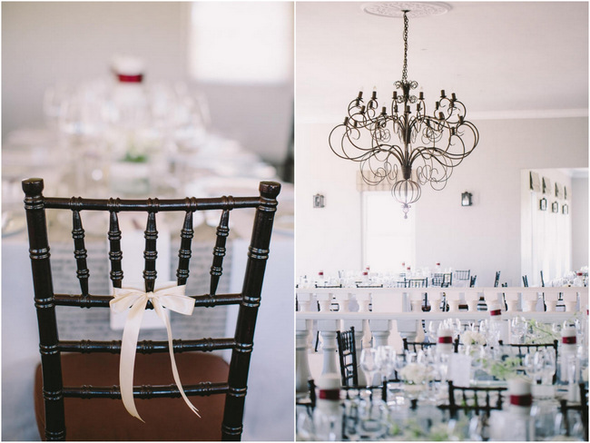 Elegant Grey and Burgundy Vintage Wedding Decor at Nantes Estate // Charlene Schreuder Photography
