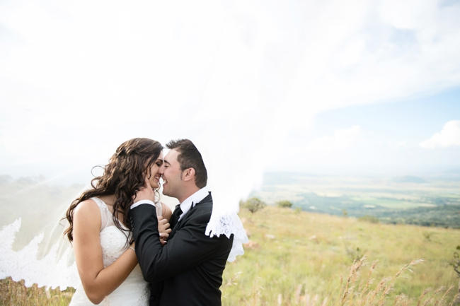 Dreamy Outdoor Couple Portraits // Pink and Grey Lace Filled South African Wedding // Stella Uys Photography