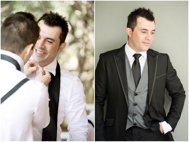 Groom // Pink and Grey Lace Filled South African Wedding // Stella Uys Photography