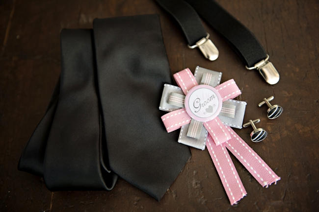 boutonniere // Pink and Grey Lace Filled South African Wedding // Stella Uys Photography