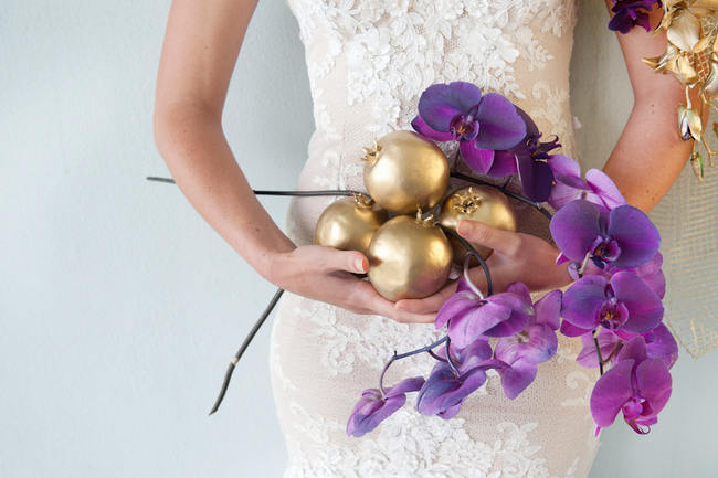 Radiant Orchid Purple and Gold Wedding Ideas // ST Photography