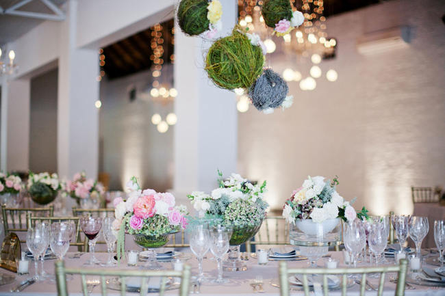 Suspended Hanging Wedding Reception Decor // Romantic South African Molenvliet Wedding in Pink and Ivory (Moira West Photography) (1)