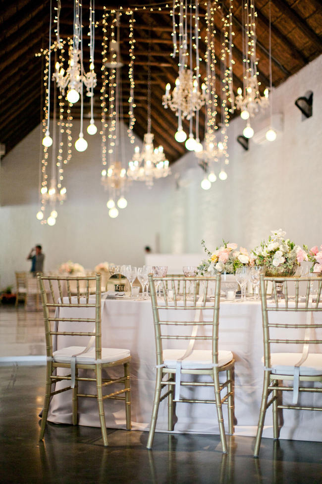 suspended hanging wedding reception decor romantic south african