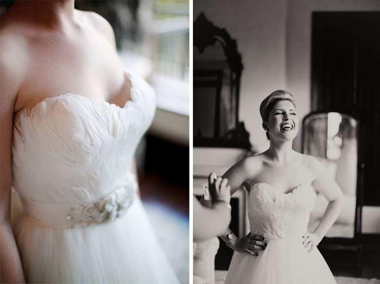Feather Wedding Dress //Romantic South African Molenvliet Wedding in Pink and Ivory (Moira West Photography) (39)