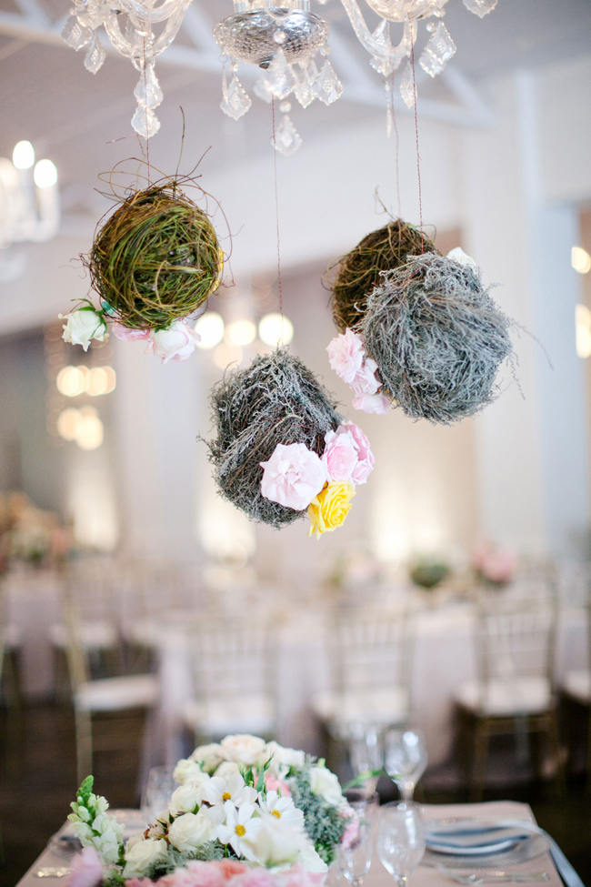 Suspended Hanging Wedding Reception Decor // Romantic South African Molenvliet Wedding in Pink and Ivory (Moira West Photography) (47)