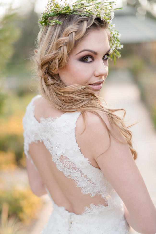 Backless Wedding Dress by White Lilly Bridal // Rustic Autumn South African Wedding Ideas // Lightburst Photography