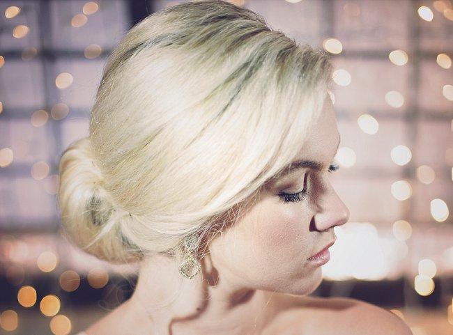 Elegant Low Chignon Wedding Upstyle // Wedding Hairstyles - Debbie Lourens Photography