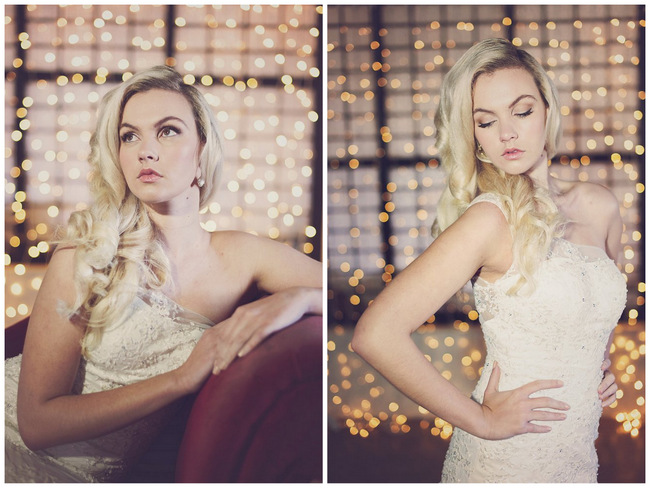 Long, Glamorous Old Hollywood Wave Hairstyle // Wedding Hairstyles - Debbie Lourens Photography