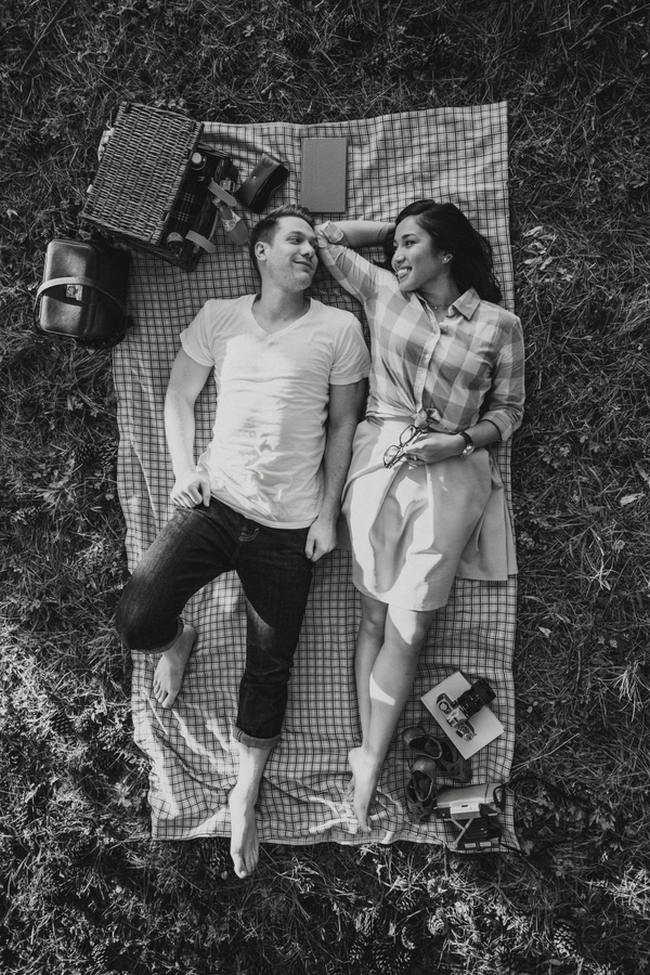 Wes Anderson Picnic Engagement Shoot 11