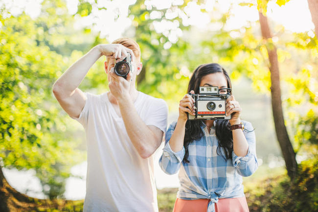 Totally Cool, Quirky, Wes Anderson-Inspired Picnic Engagement Shoot {Tesar Photography}