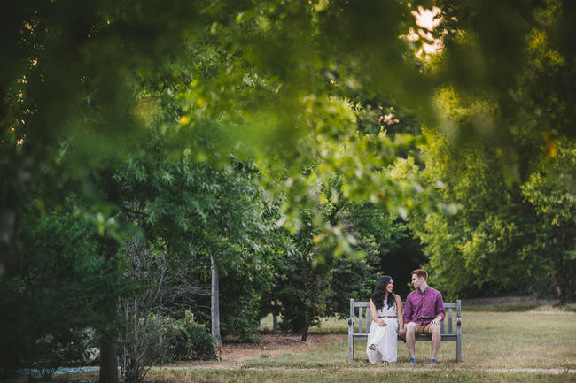 Totally rad Wes Anderson-Inspired vintage picnic engagement shoot photographs // Tesar Photography