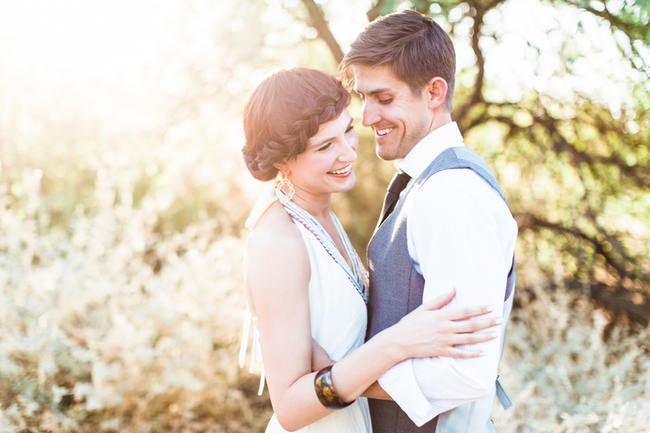 Arizona Desert Bohemian Engagement Session (1)