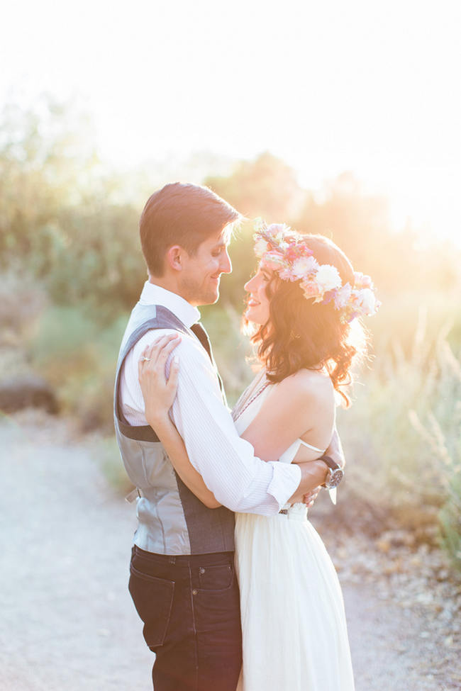 Arizona Desert Bohemian Engagement Session // Rachel Solomon Photography