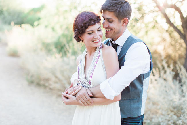 Arizona Desert Bohemian Engagement Session (4)