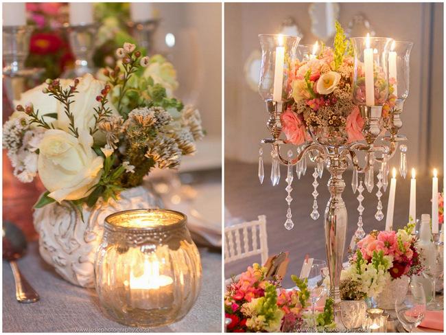 Vintage Wedding Ideas.Elegant Vintage Wedding Ideas In Peach Silver