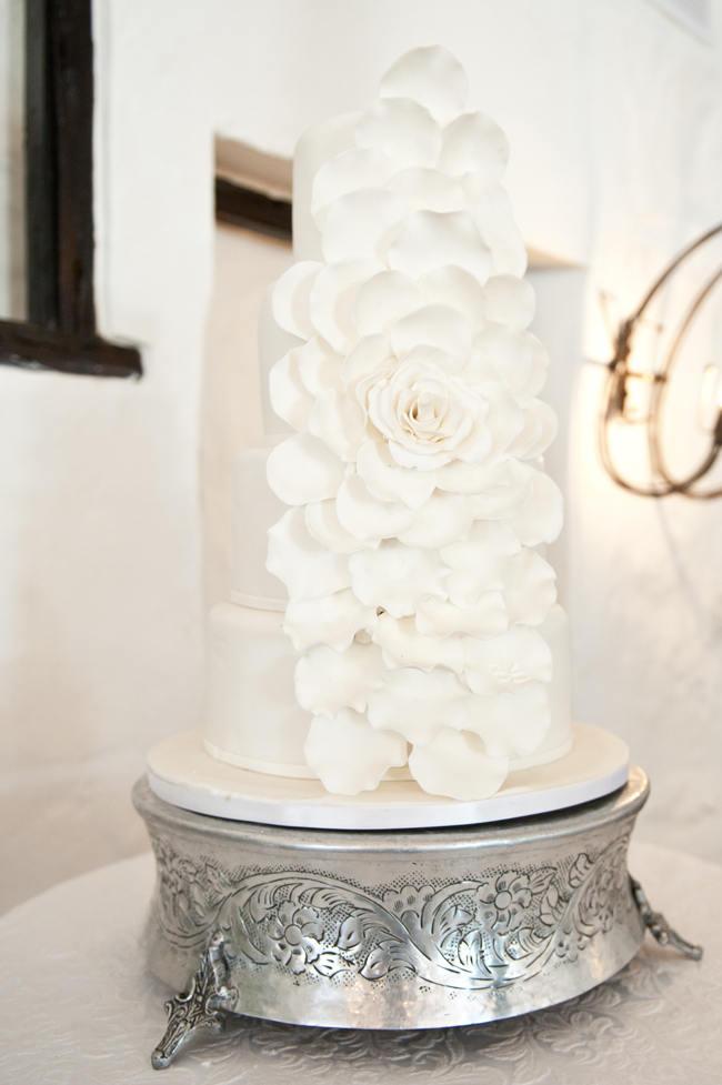 Peony Wedding Cake // Crisp White Green Silver Summer Garden South African Wedding - Samantha Du Toit Photography (16)