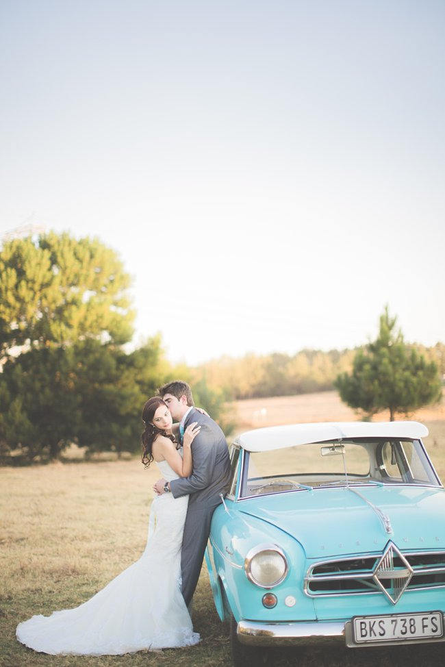 Romantic Couple Photographs // Delightfully Handmade DIY Teal Turquoise Peach Vintage South African Wedding // Genevieve Fundaro Photography
