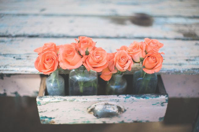 Delightfully handmade teal peach vintage south african wedding wedding decor ideas delightfully handmade diy teal turquoise peach vintage south african junglespirit Choice Image