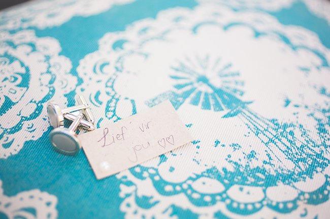 Wedding Ceremony // Delightfully Handmade DIY Teal Turquoise Peach Vintage South African Wedding // Genevieve Fundaro Photography