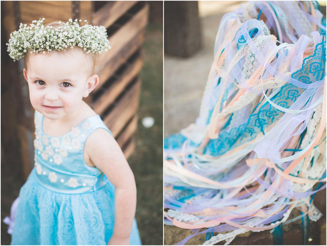 Flower Girl and Ribbon Wands // Boutonnierre