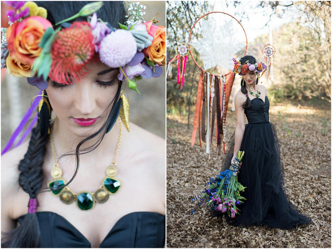 Eclectic Outdoor Gypsy-Inspired Wedding Ideas {Memory Box Photography}