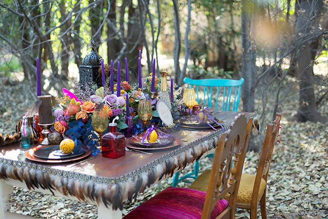 Eclectic Outdoor Gypsy Inspired Wedding Inspiration