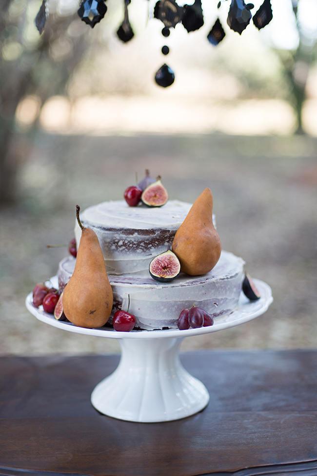 Naked Cake Purple Orange and Yellow Gypsy Wedding Ideas // Memory Box Photography