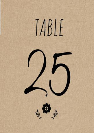 cute rustic diy table number download