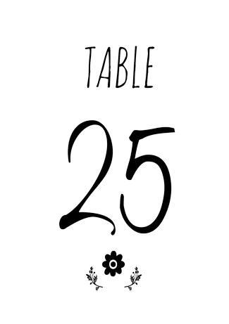 Free Cute Rustic DIY Table Numbers Free Printable