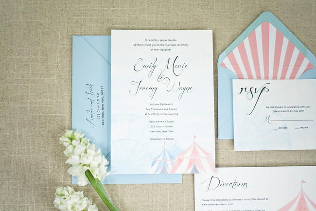 Gorgeous Watercolor Wedding Invitations 4