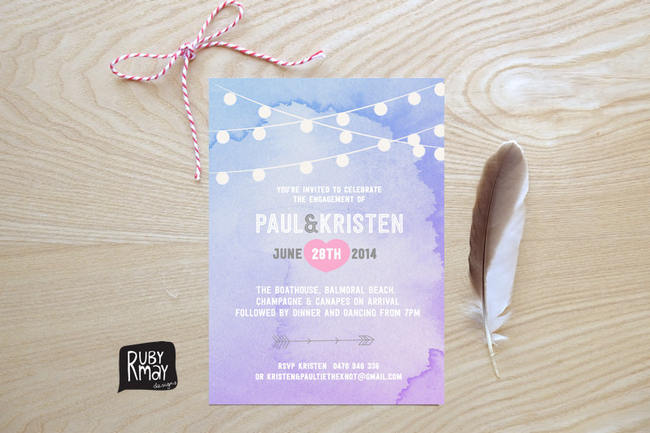 Gorgeous Watercolor Wedding Invitations 8