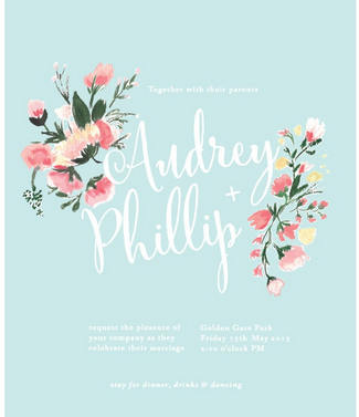 The Most Gorgeous Watercolor Wedding Invitations