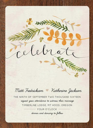 Gorgeous Watercolor Wedding Invitations_ 2