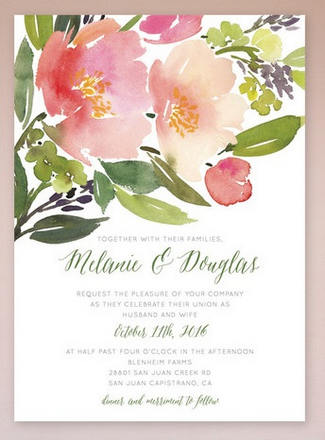 Gorgeous Watercolor Wedding Invitations_ 5