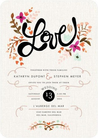 Gorgeous Watercolor Wedding Invitations_ 9