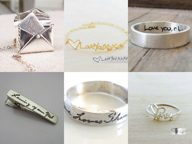 14 Amazing Handwritten Jewelry Gift Ideas Made Using Your Actual Handwriting!